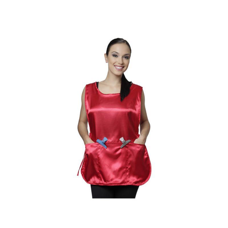 Bata em Seda Lisa Modelo Tiziana Vermelho Santa Clara