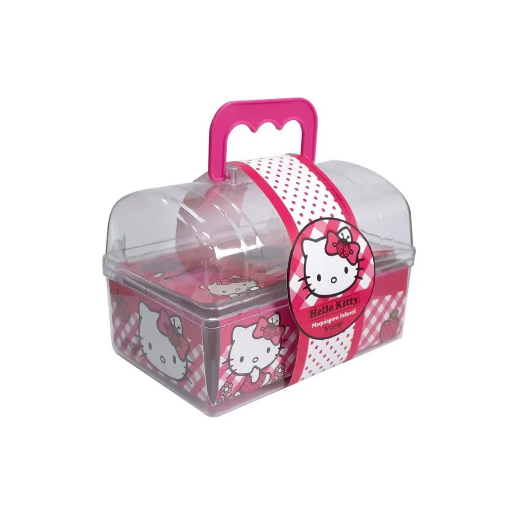 Baú de Maquiagem Hello Kitty View Cosméticos
