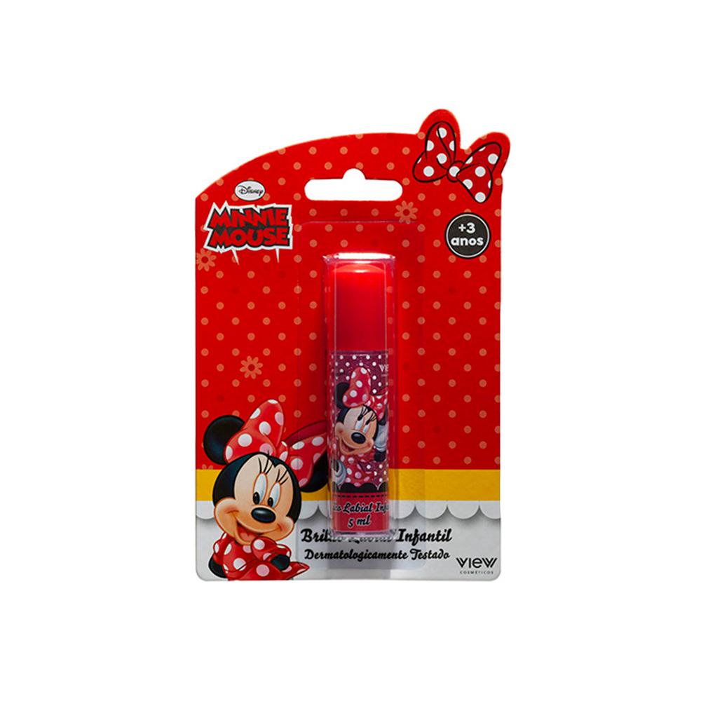 Brilho Labial Infantil Minnie Mouse 5ml View Cosméticos
