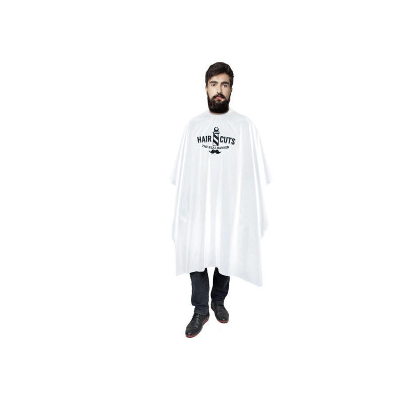 Capa Cetim Sem manga com Impressão para Barbeiro Branco Santa Clara