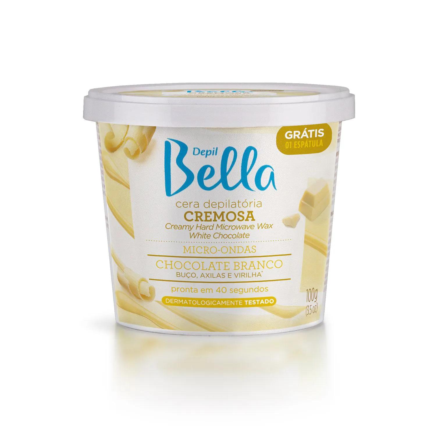 Cera Depilatória Cremosa Micro-Ondas Chocolate Branco 100g Depil Bella