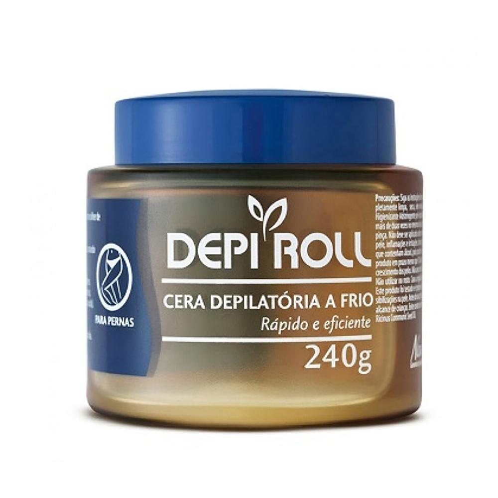Cera Depilatória Fria 240g Tradicional DepiRoll