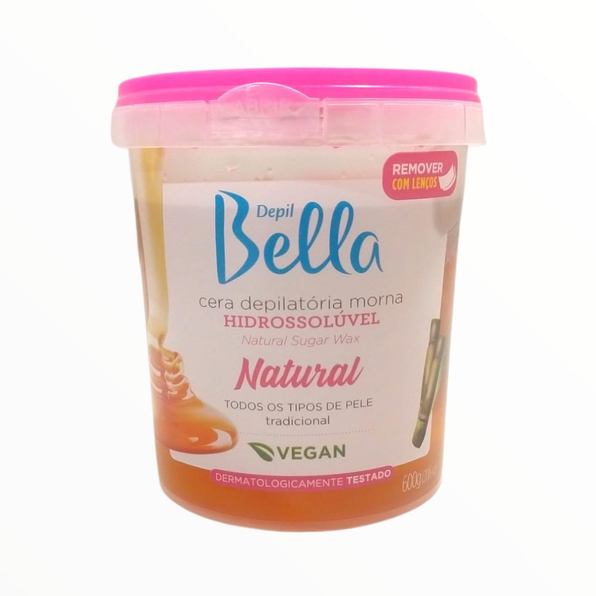 Cera Depilatória Hidrossolúvel Natural Mel 600g Depil Bella