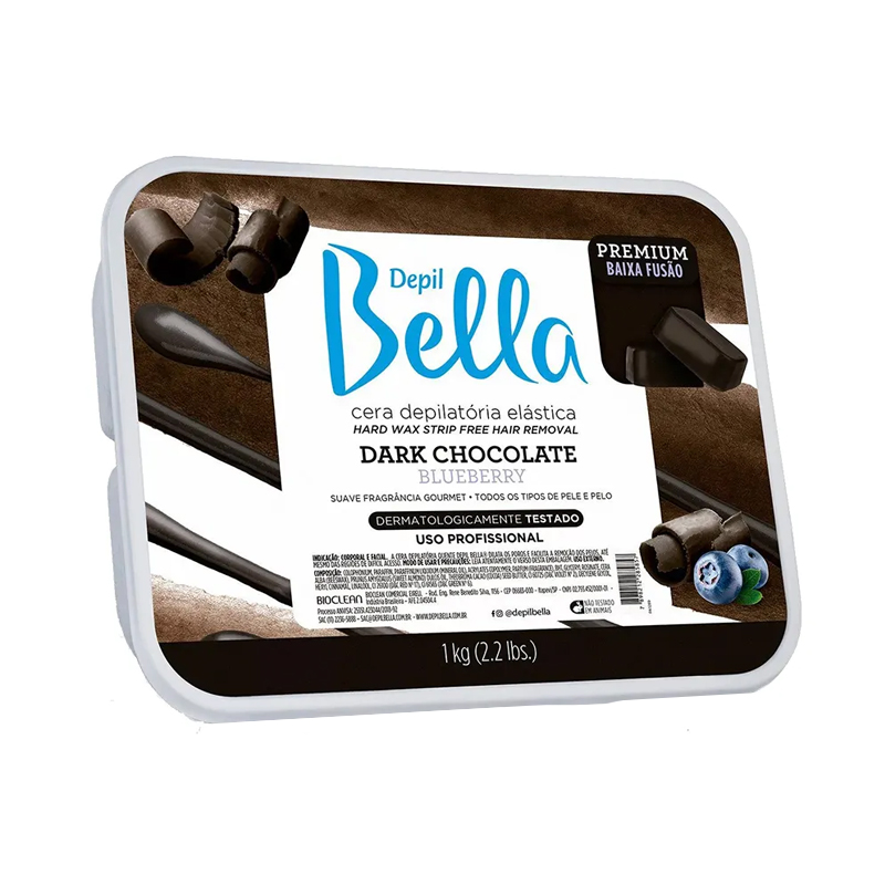Cera Depilatória Quente 1kg Dark Chocolate Depil Bella