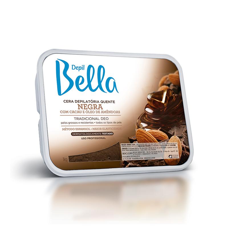 Cera Depilatória Quente 1kg Negra Depil Bella