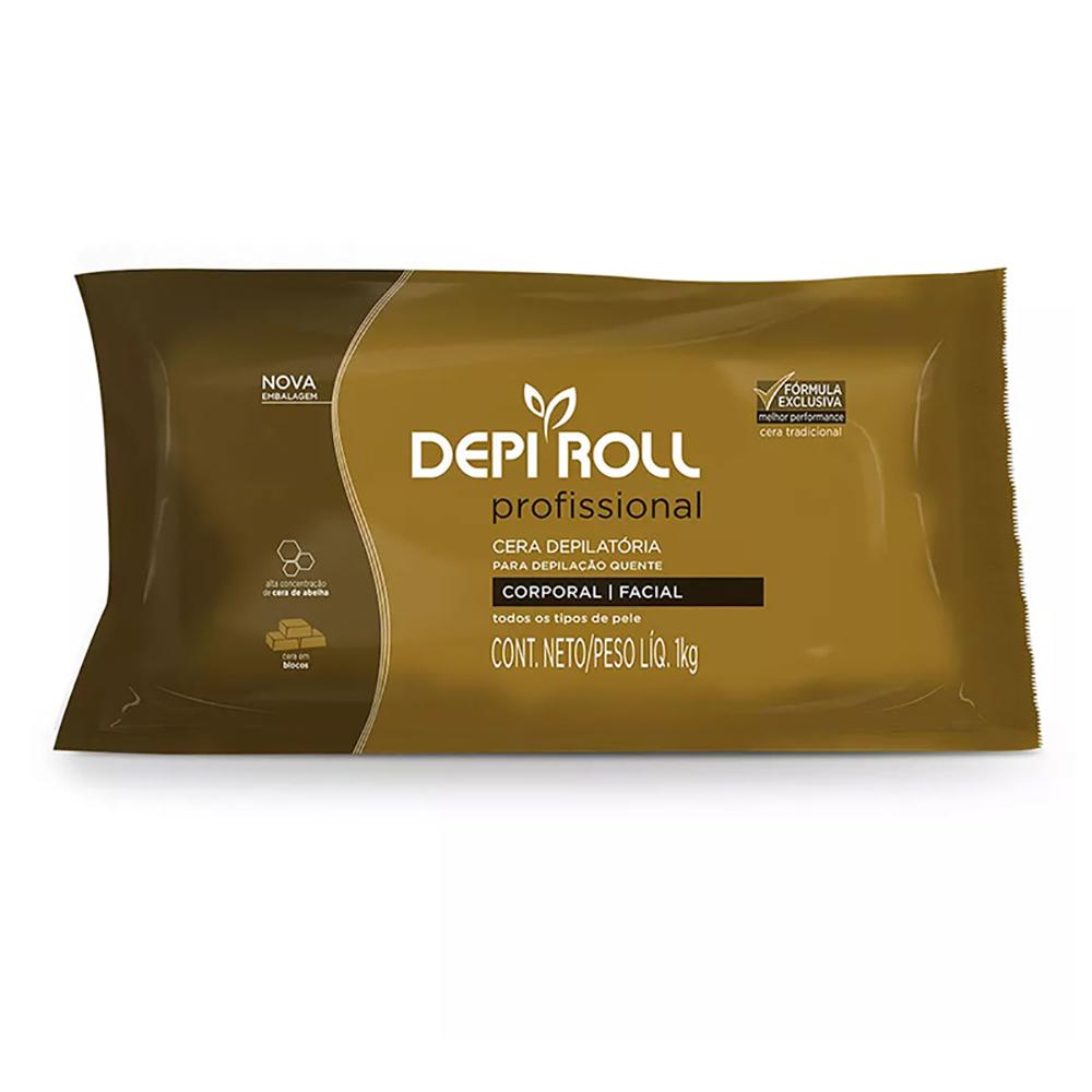 Cera Depilatória Quente 1kg Tradicional DepiRoll