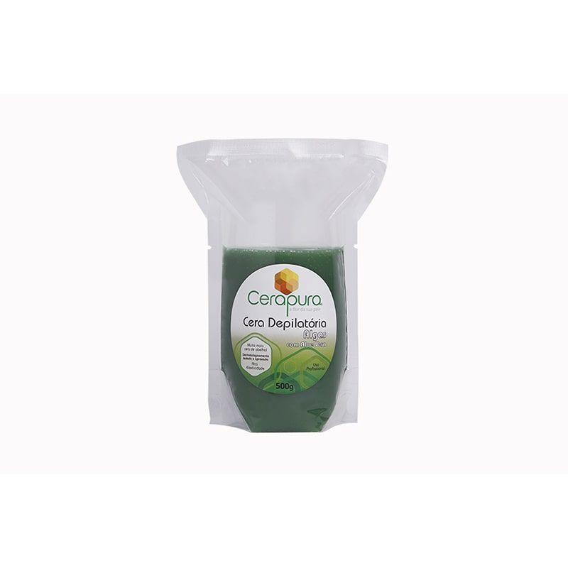 Cera Depilatória Quente Algas com Aloe Vera 500g Cerapura