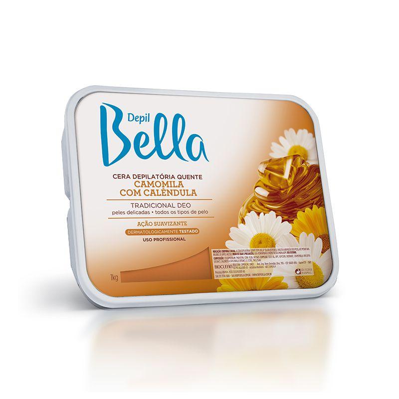 Cera Depilatória Quente Camomila 1kg Depil Bella