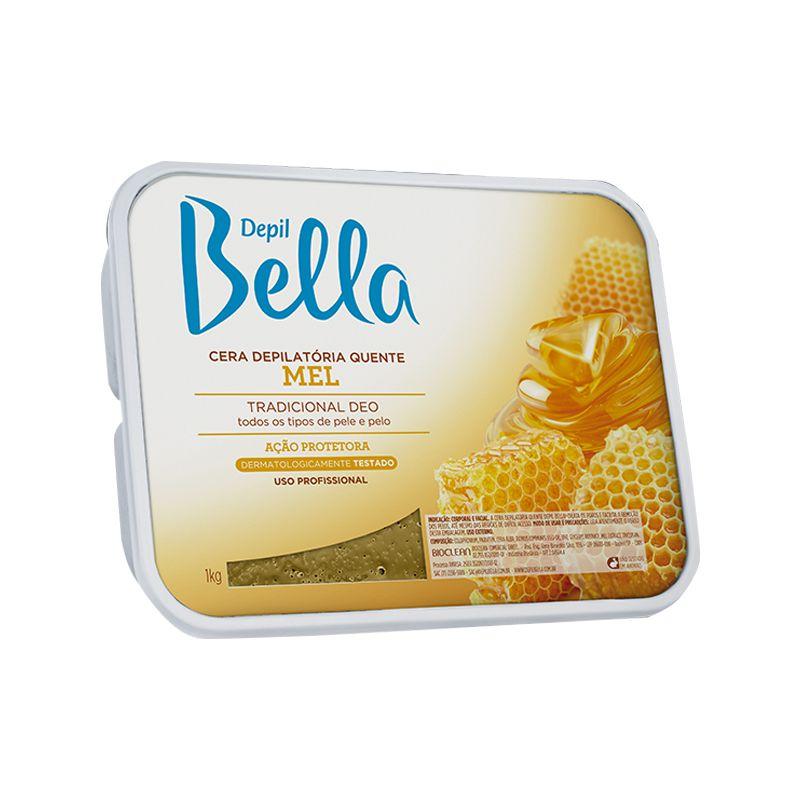 Cera Depilatória Quente Mel 1kg Depil Bella