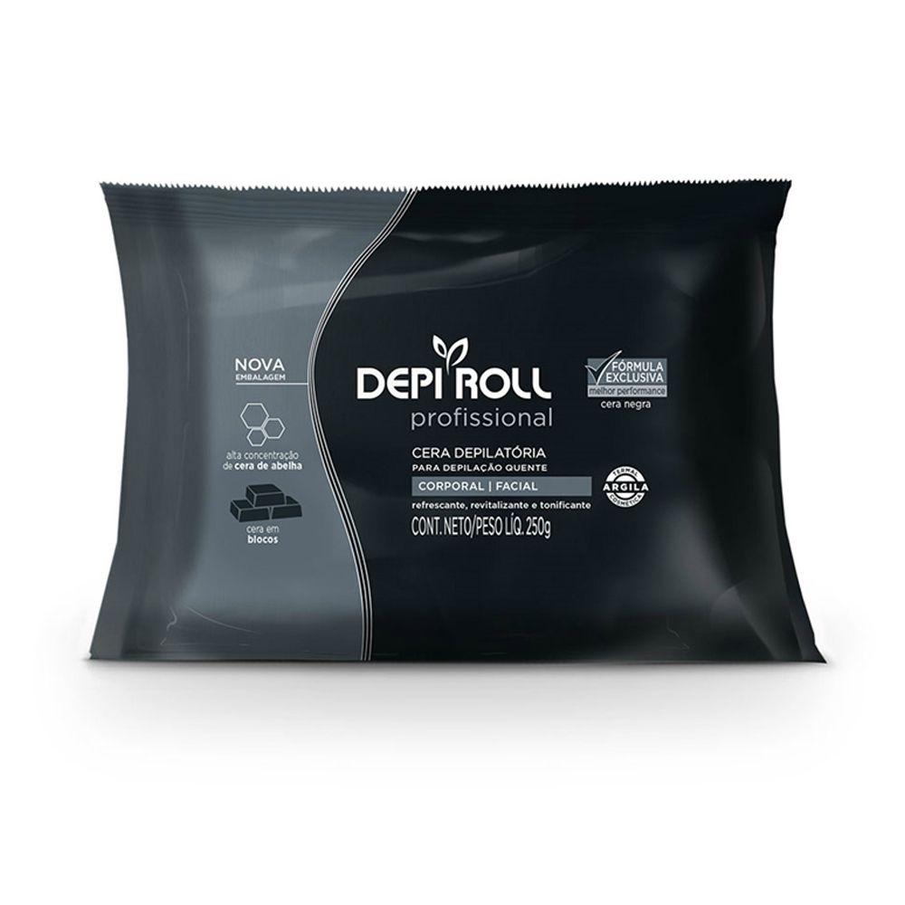 Cera Depilatória Quente Negra 250g DepiRoll