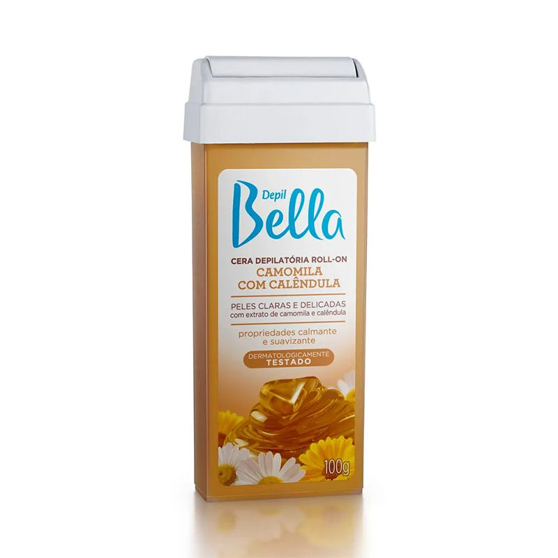 Cera Depilatória Roll On Camomila 100g Depil Bella