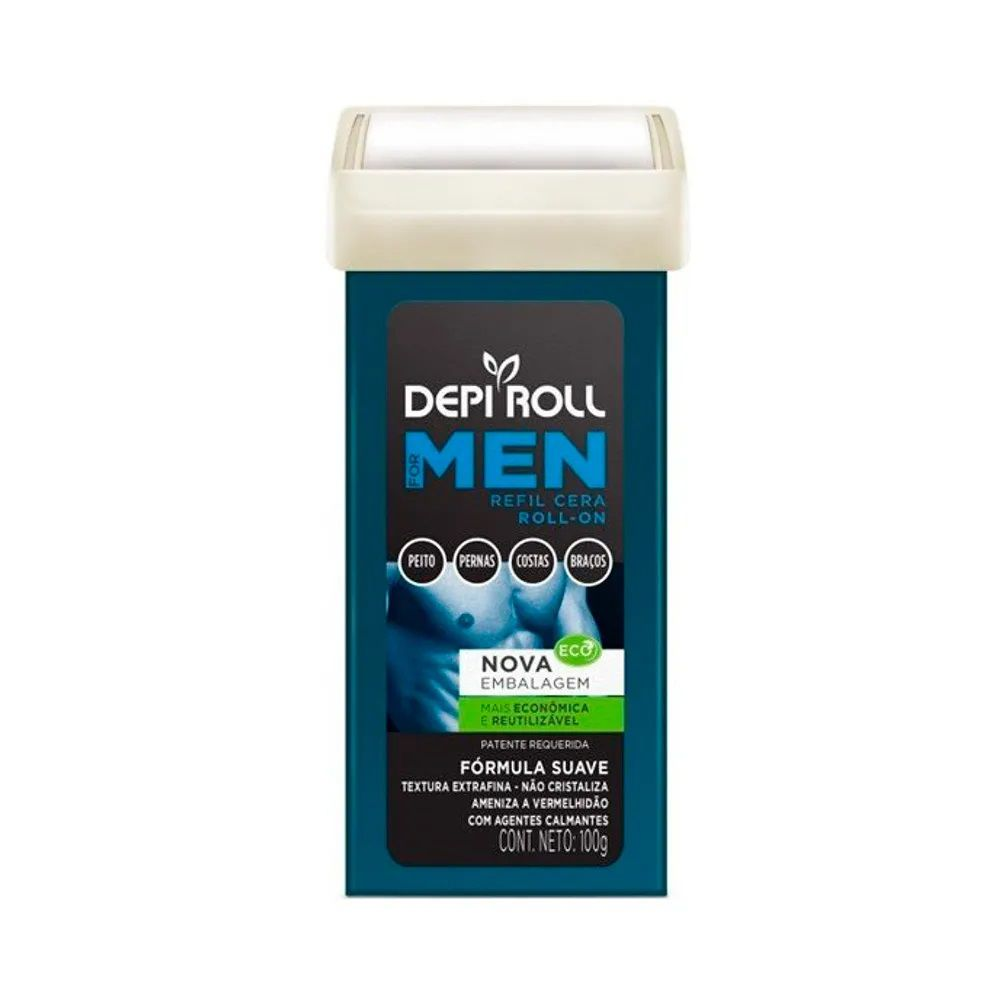Cera Depilatória Roll On Men Com Tampa 100g DepiRoll