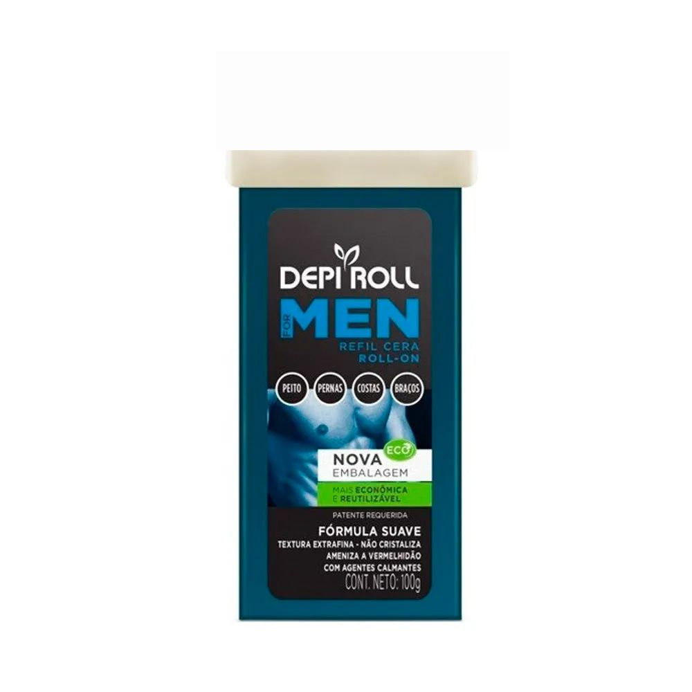 Cera Depilatória Roll On Men Sem Tampa 100g DepiRoll