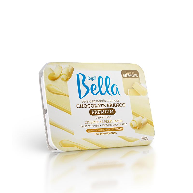 Cera Quente Depilatória 800g Chocolate Branco Depil Bella