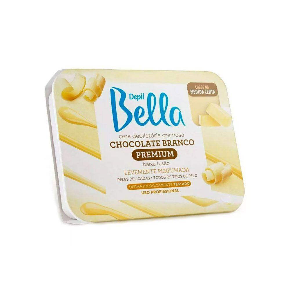 Cera Quente Depilatória Chocolate Branco 200g Depil Bella