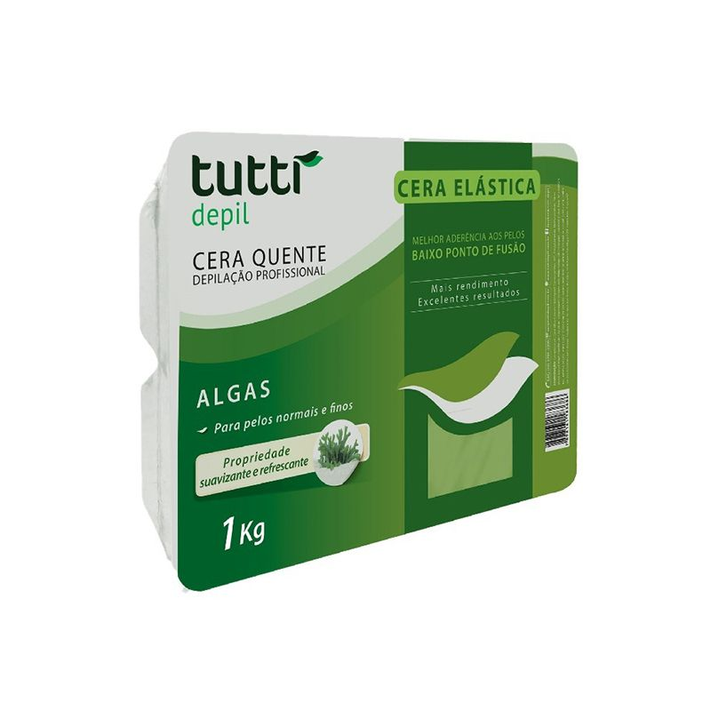 Cera Quente Elástica Algas 1kg Tutti Depil