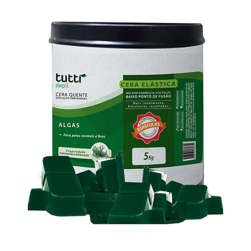 Cera Quente Granulada Algas 5kg Tutti Depil