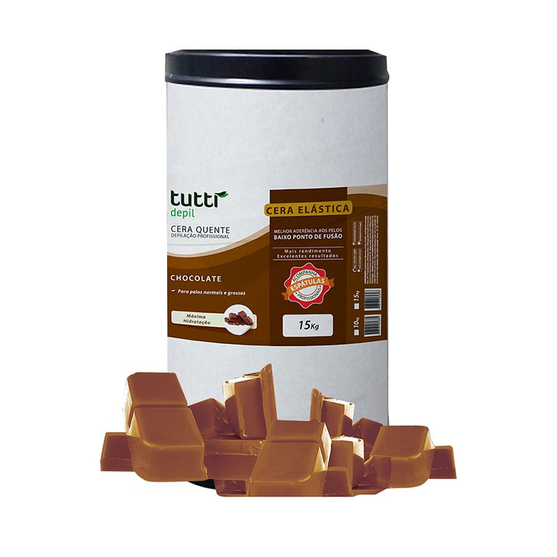 Cera Quente Granulada Chocolate  15kg Tutti Depil