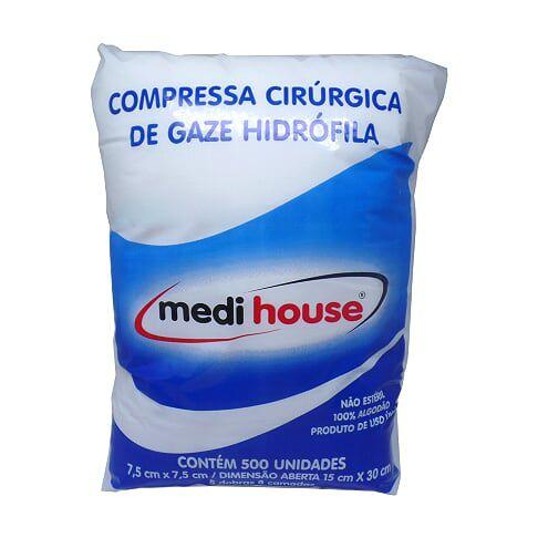 Compressa De Gaze Curativo 09 Fios 500un Medi House