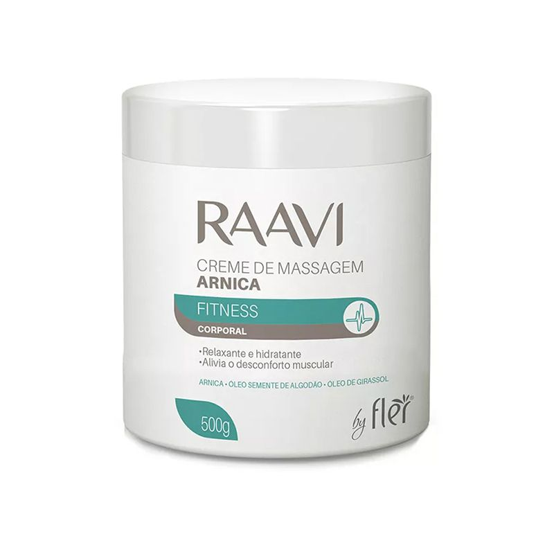 Creme De Massagem Arnica 500g Raavi
