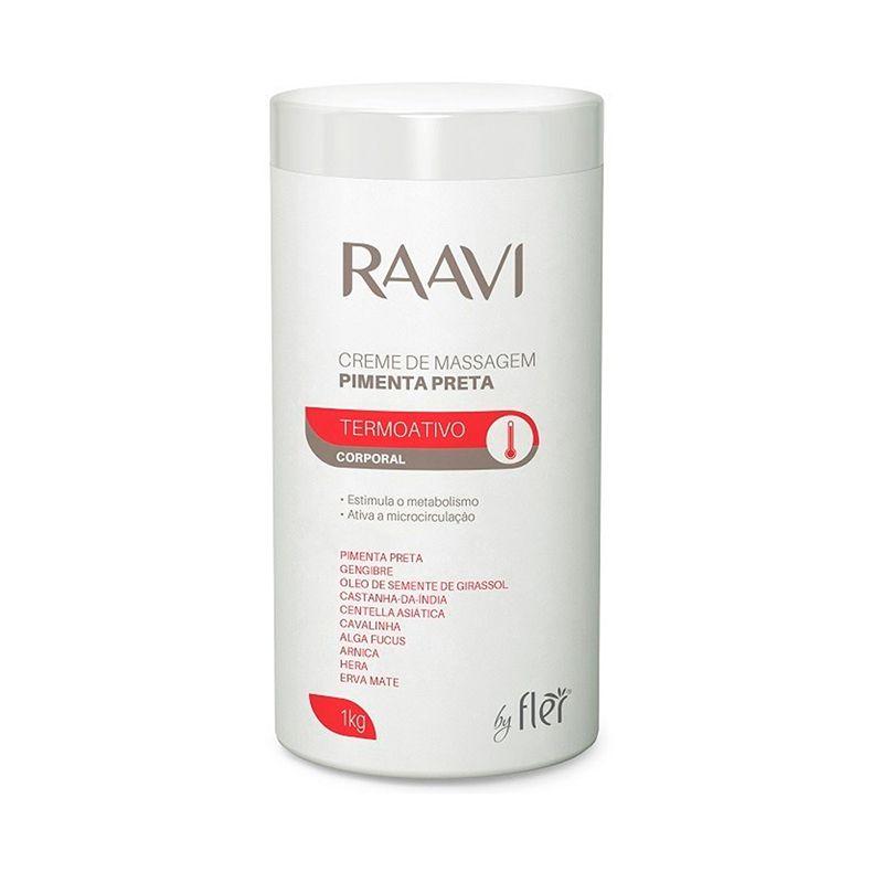Creme De Massagem Pimenta Preta 1kg Raavi