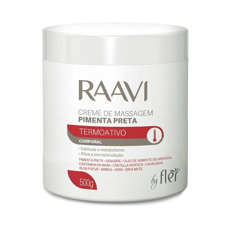Creme De Massagem Pimenta Preta 500g Raavi