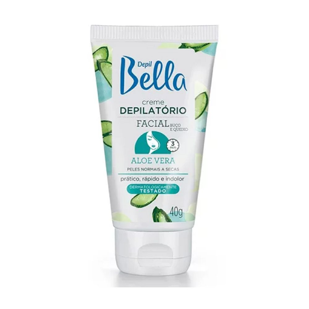 Creme Depilatório Facial  Aloe Vera 40g Depil Bella