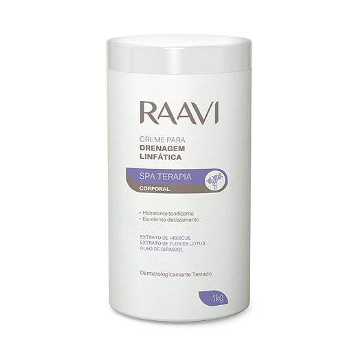 Creme Drenagem Linfática Spa Terapia 1kg Raavi