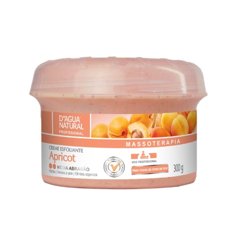 Creme Esfoliante Média Abrasão Apricot 300g D'Agua Natural
