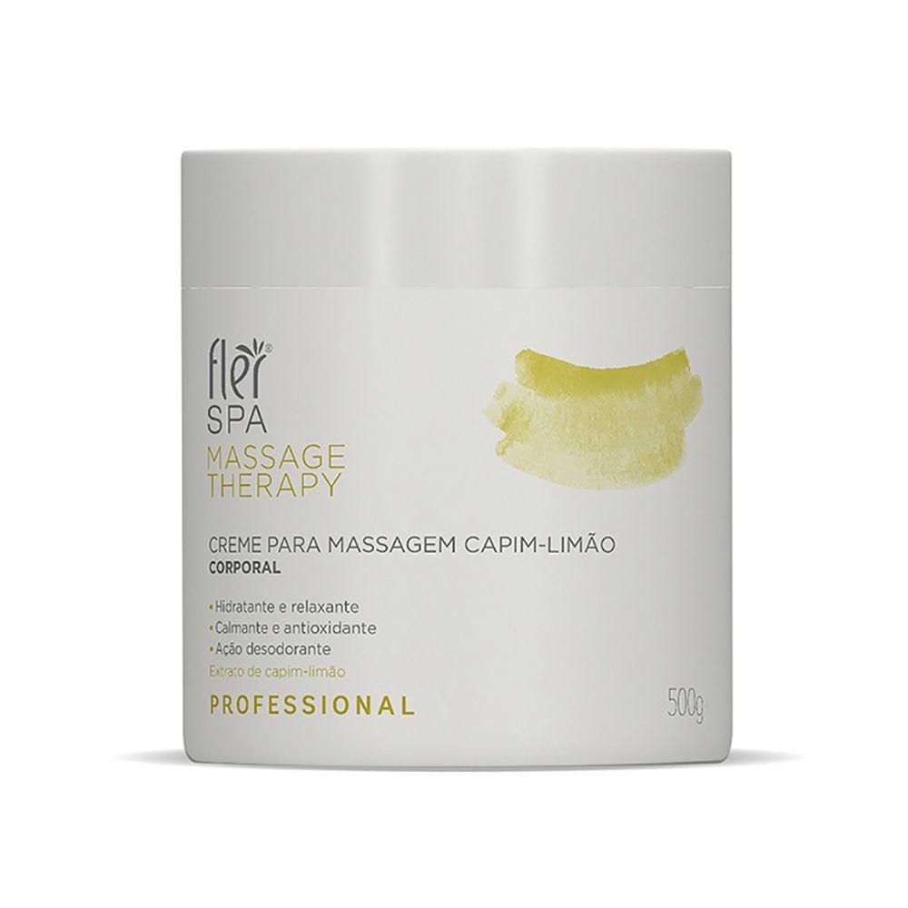 Creme para Massagem Capim-Limão Spa Massage Therapy 500g Flér