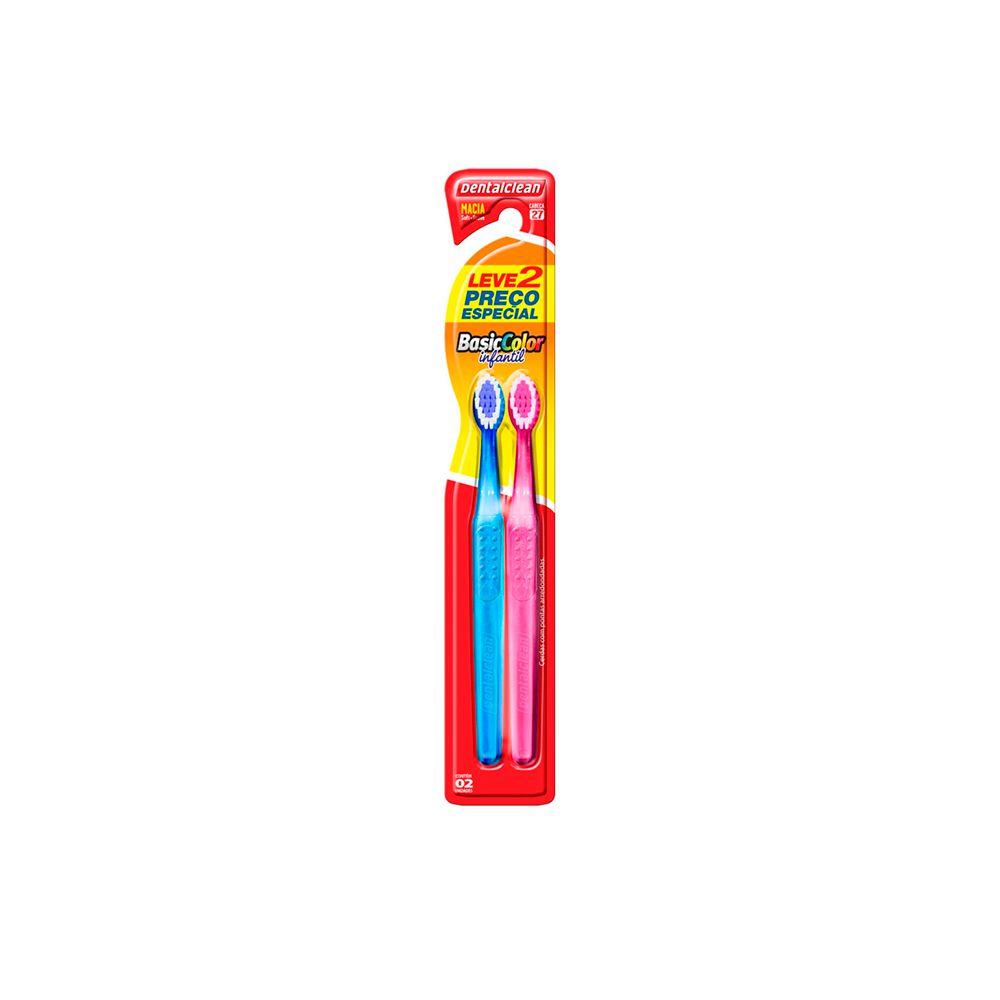 Escova de Dentes Cerdas Macia Infantil Basic Color
