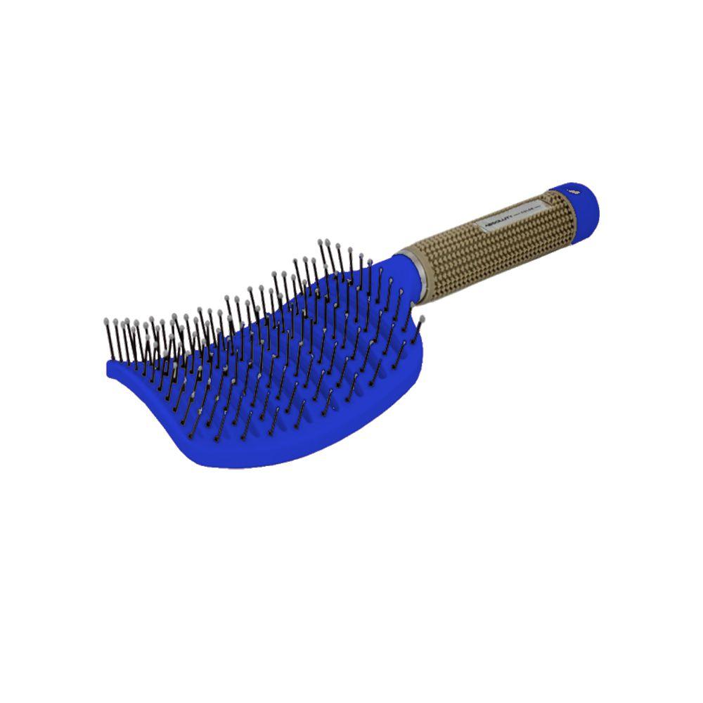 Escova Raquete Vazada Azul Escuro Absoluty Color