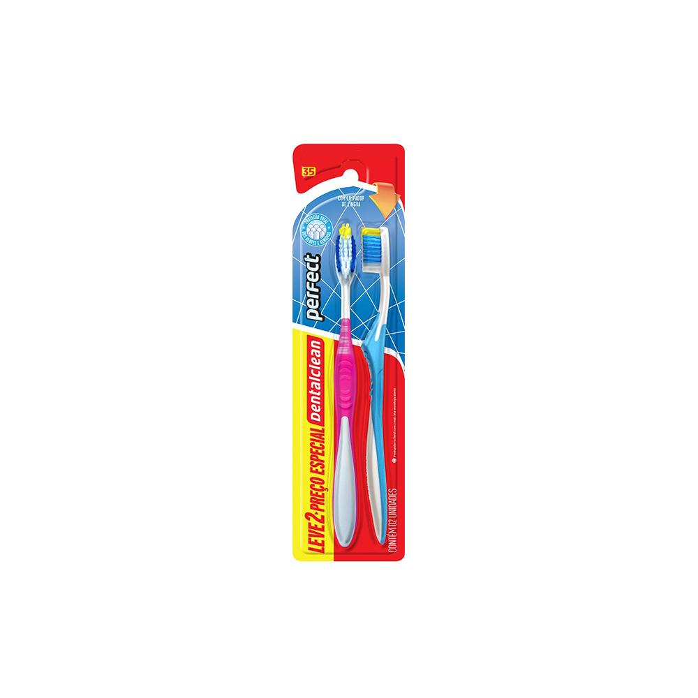 Escovas de Dentes Com Cabo Ergonômico Perfect Macia Dentalclean