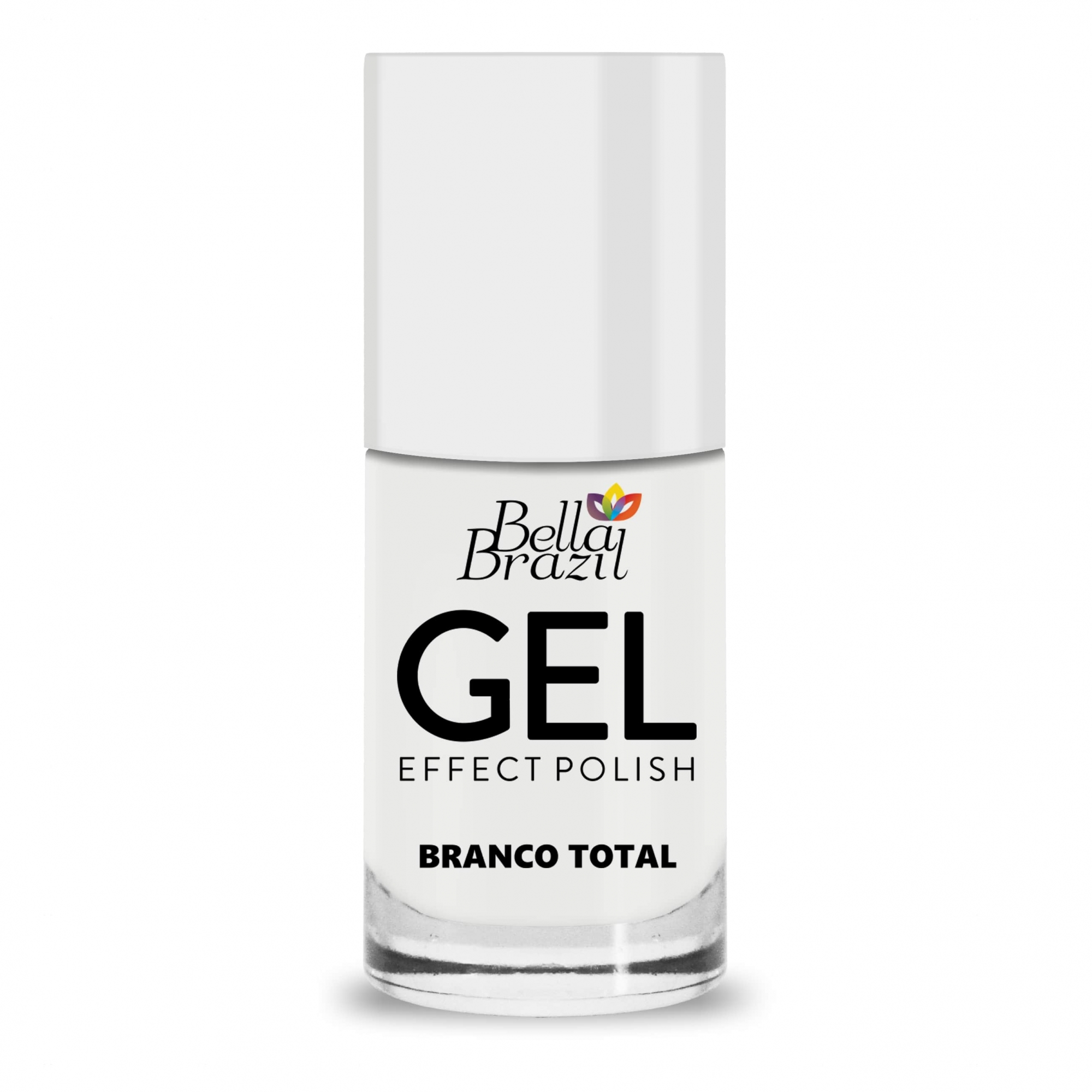 Esmalte Efeito Gel Branco Total 8ml Bella Brazil