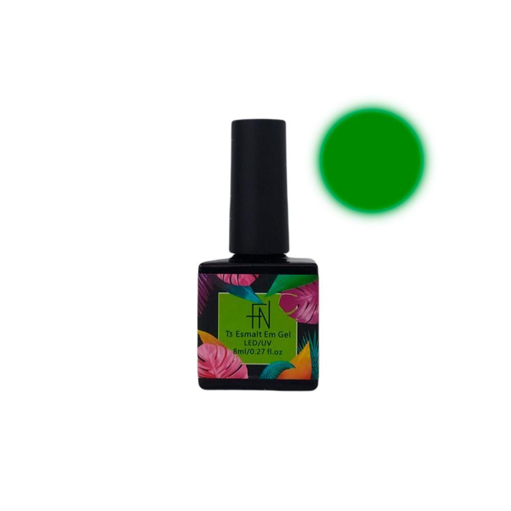 Esmalte em Gel T3 LED UV 8ml Verde 020 Fannails