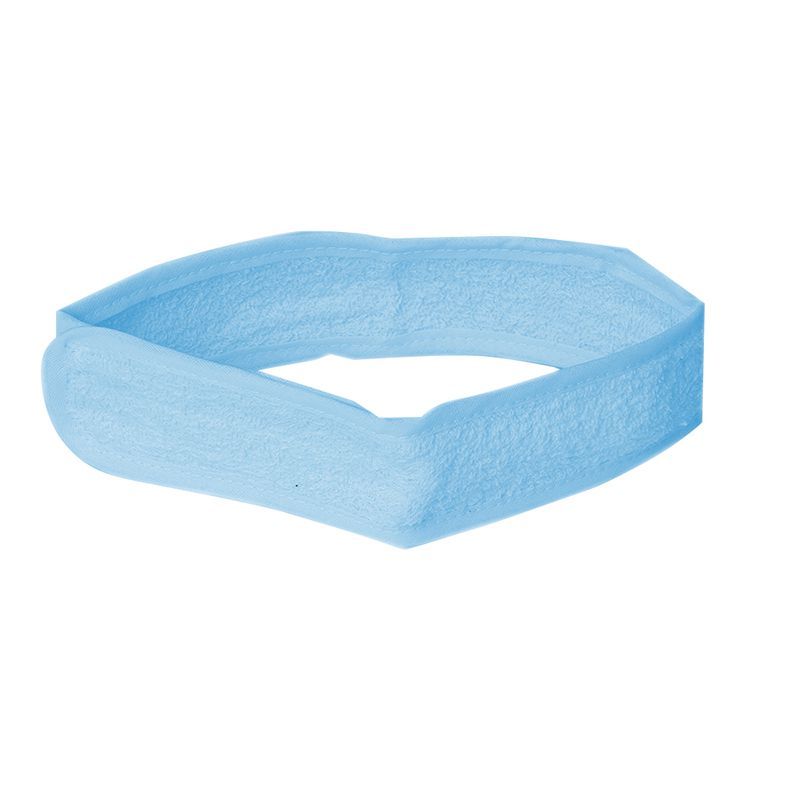 Faixa Atoalhada com Velcro Azul para Cabelo Santa Clara