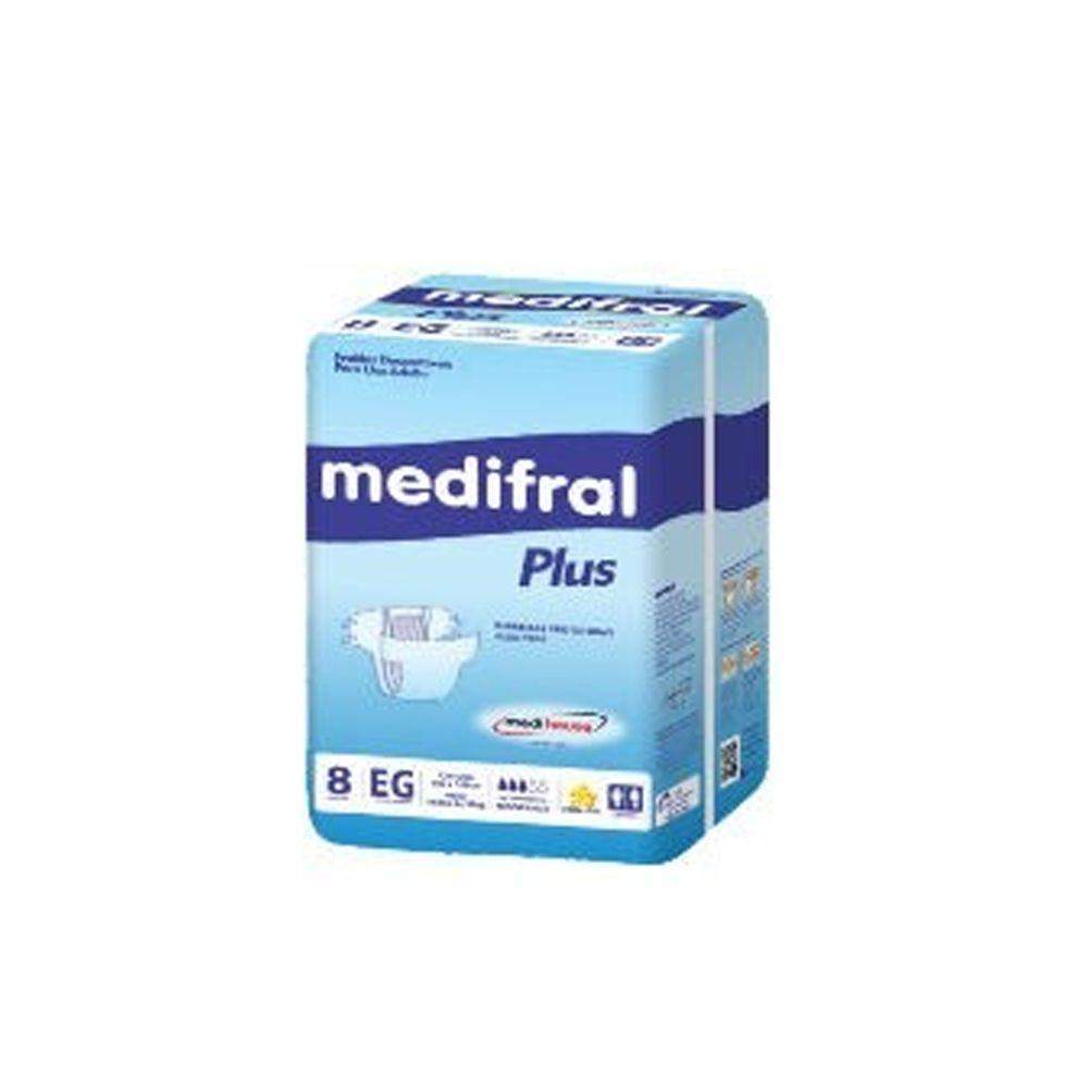 Fralda Descartável Medifral Plus EG 8un Medi House