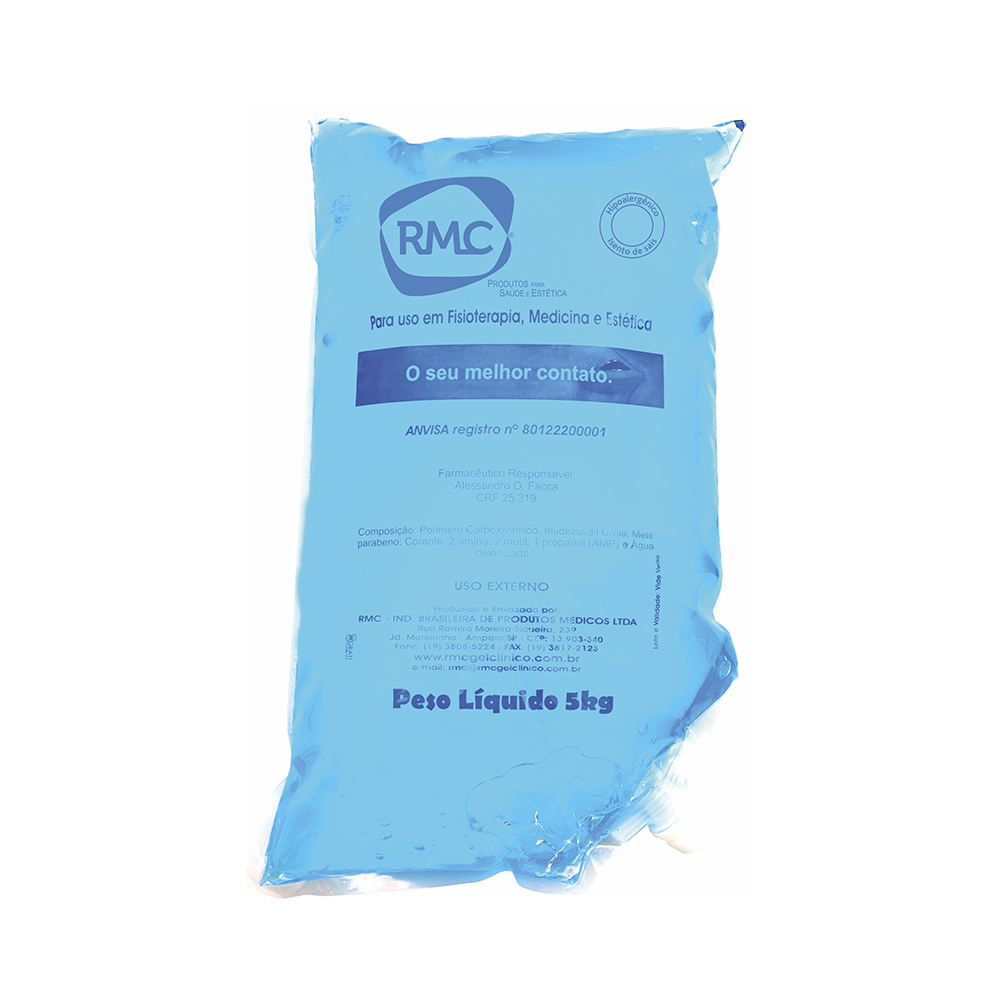 Gel Contato Clínico Bag 5kg Azul RMC