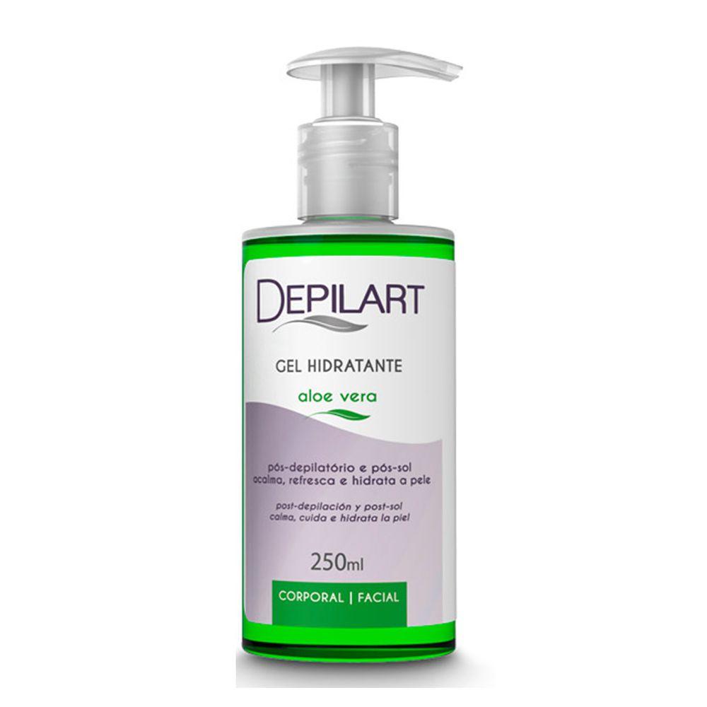 Gel Hidratante Aloe Vera 250ml Depilart