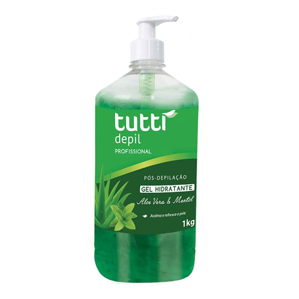 Gel Hidratante Pós Depilação Aloe Vera 1kg Tutti Depil