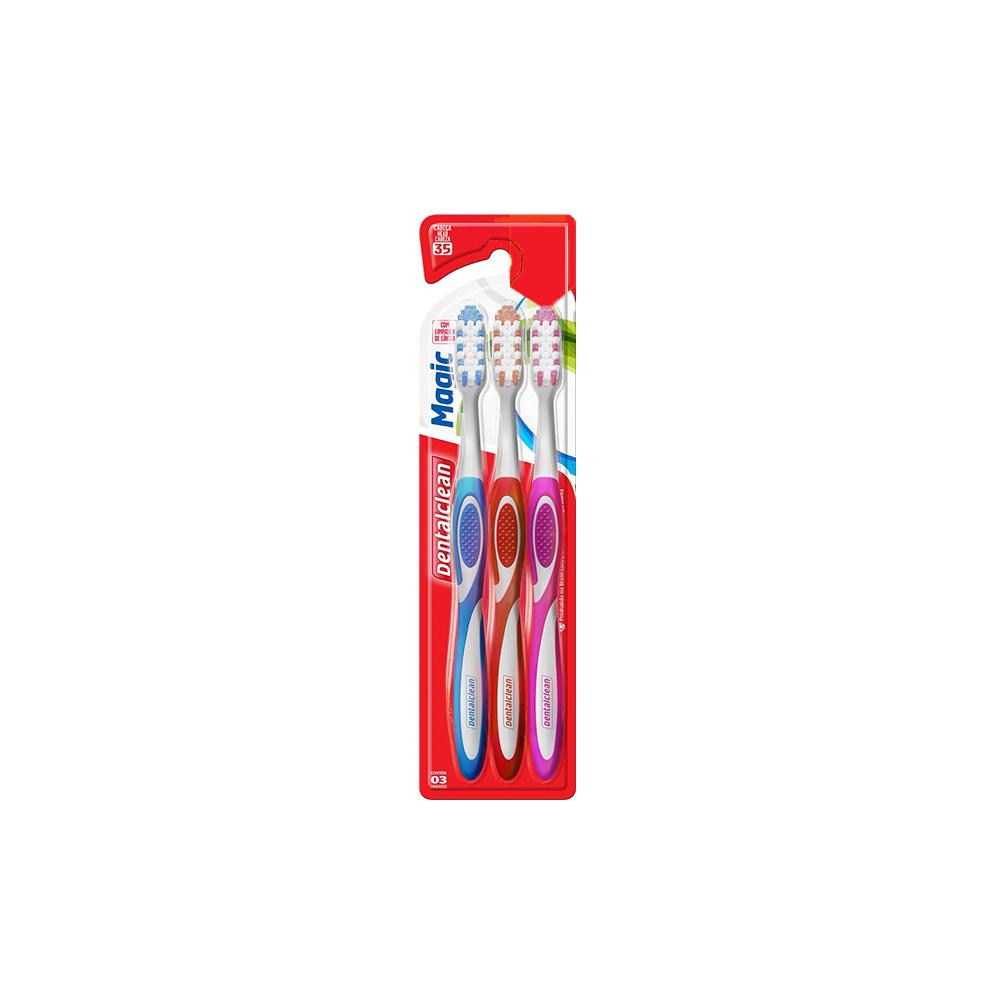 Kit 3 Escovas de Dentes Magic Média Dentalclean