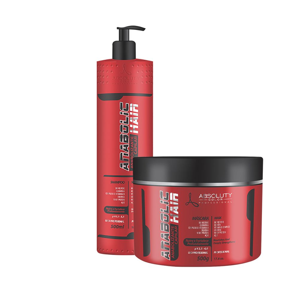 Kit Anabolic Hair Home Care Absoluty Color