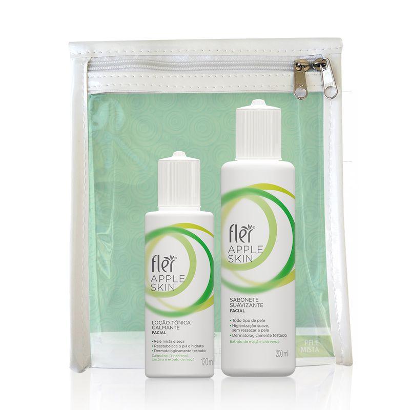 Kit Apple Skin Home Care Pele Mista Flér