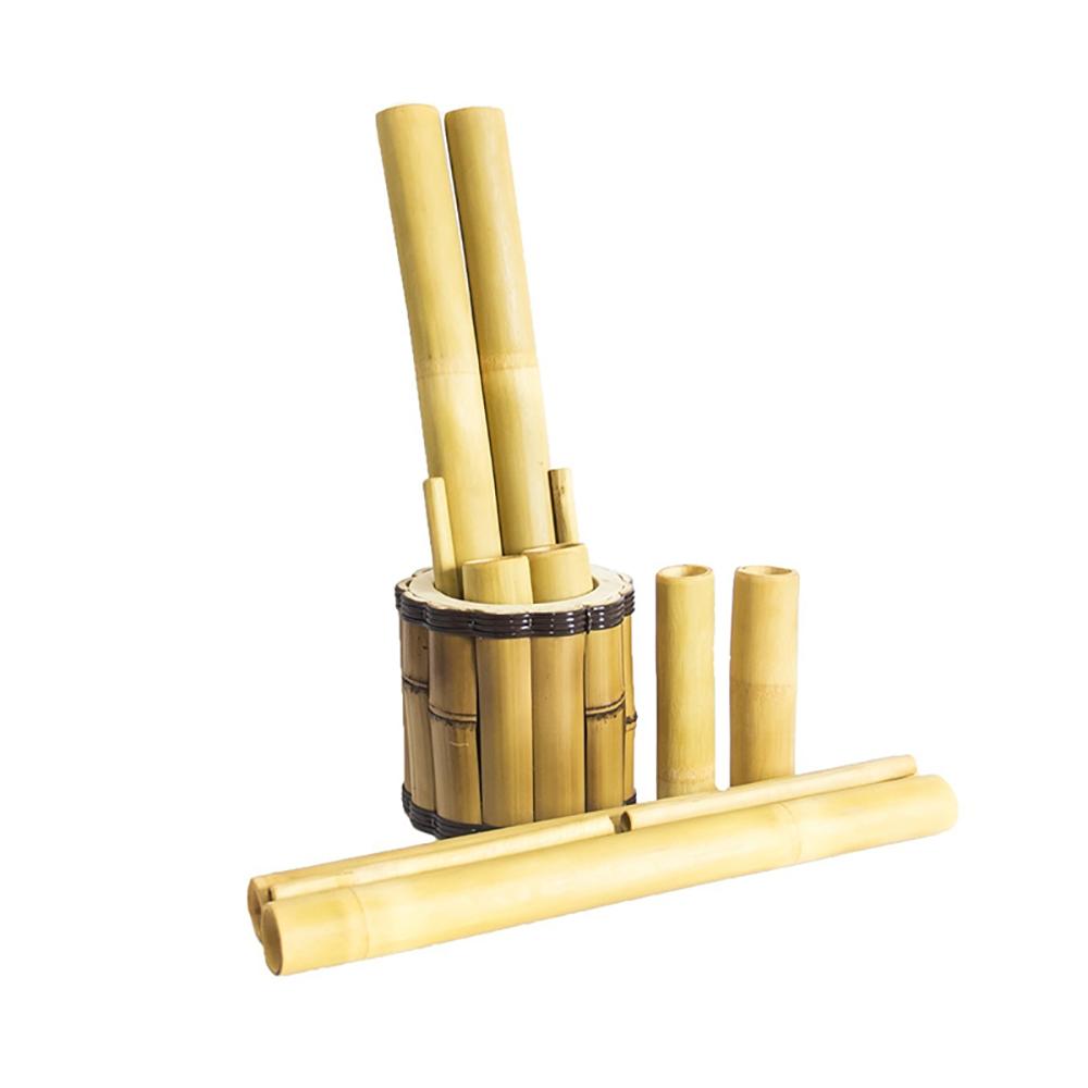 Kit Bambus Com Copo Para Massagem Com 6un Cera Fácil