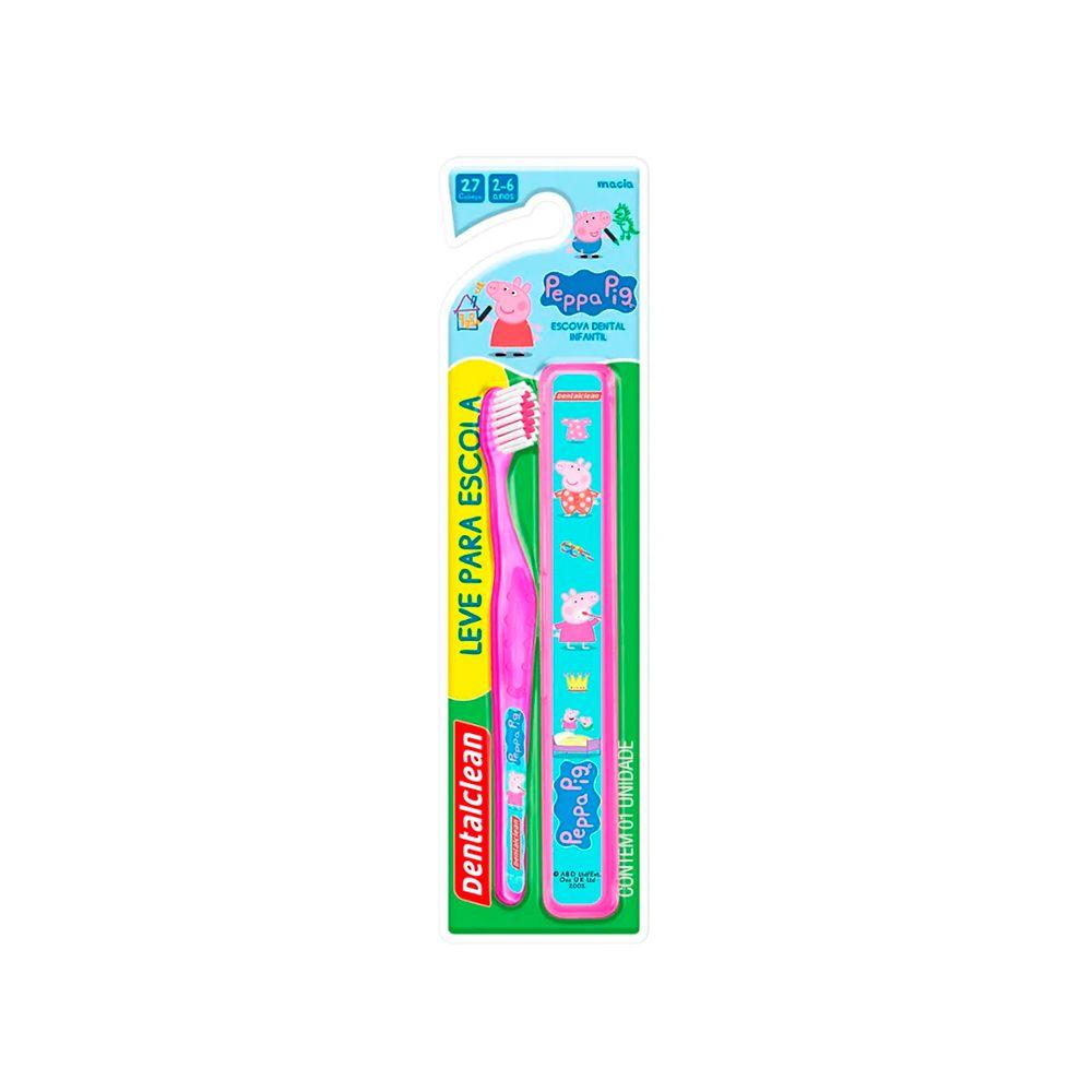 Kit Escolar Escova de Dente + Estojo Peppa Pig