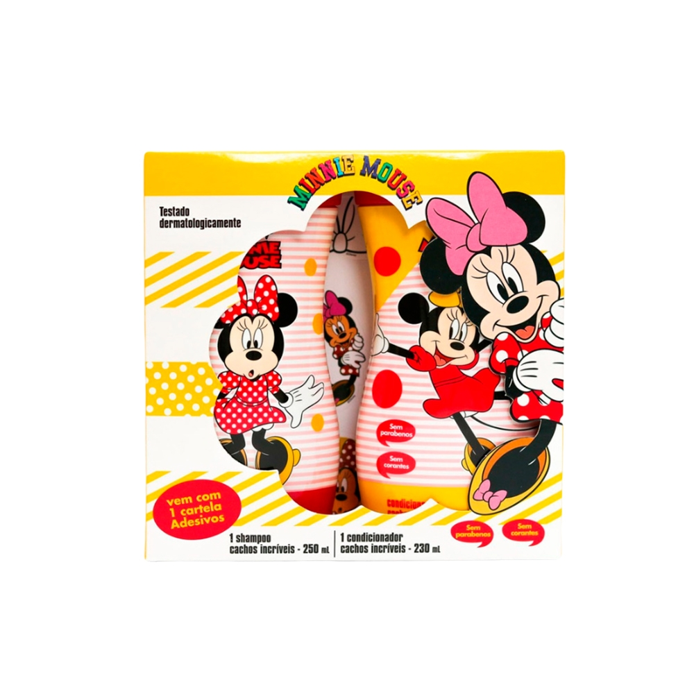 Kit Minnie Cachos Shampoo 250ml + Condicionador 230ml Nutriex