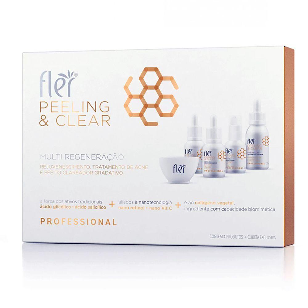 Kit Multi Regeneração Peeling & Clear Flér