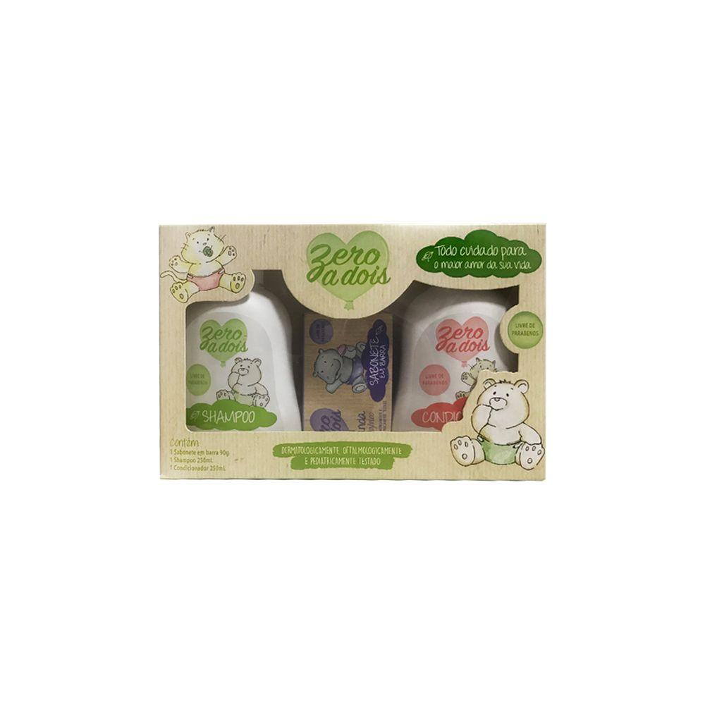 Kit Shampoo com Condicionador e Sabonete Zero a Dois Total Química