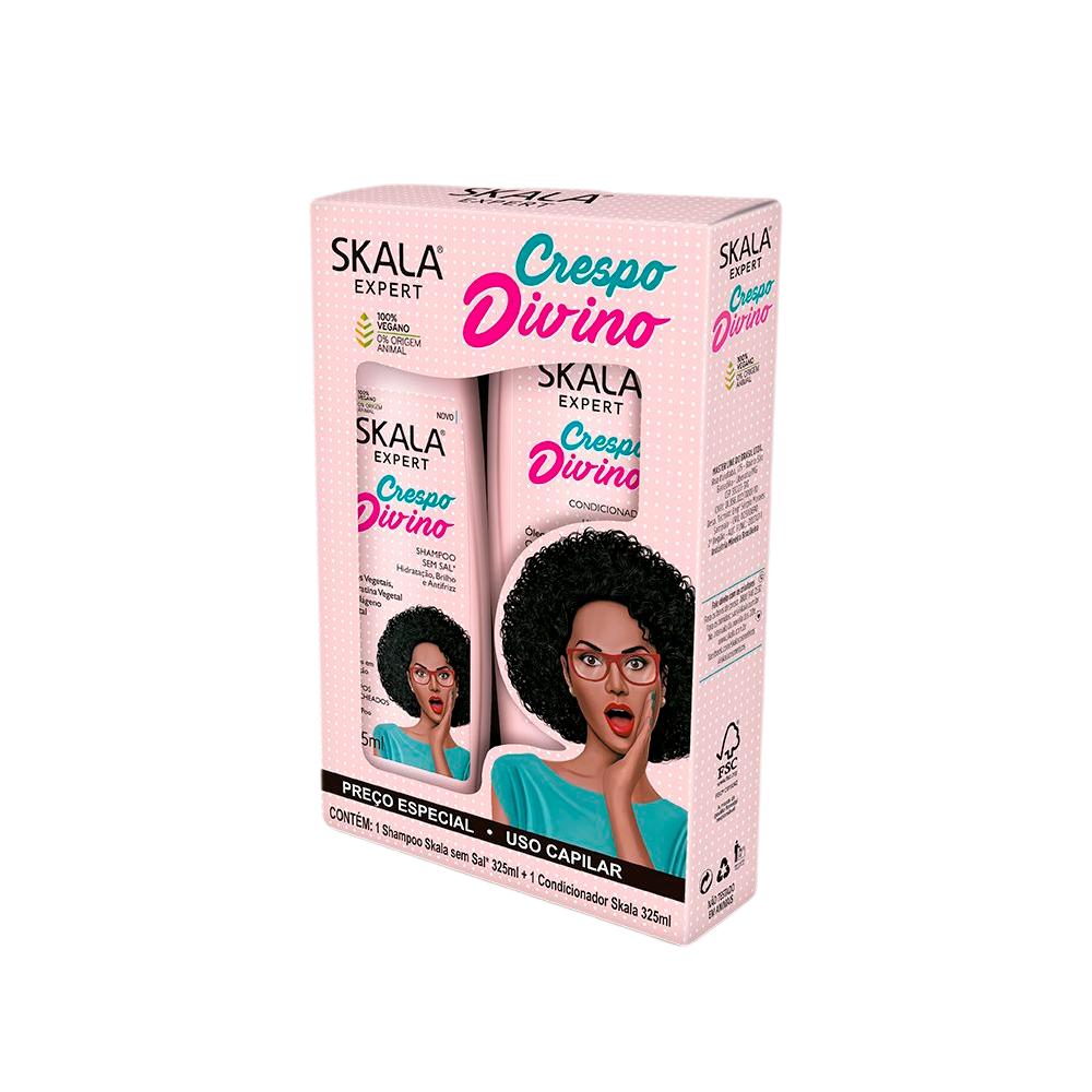 Kit Shampoo + Condicionador Crespo Divino 325ml Skala