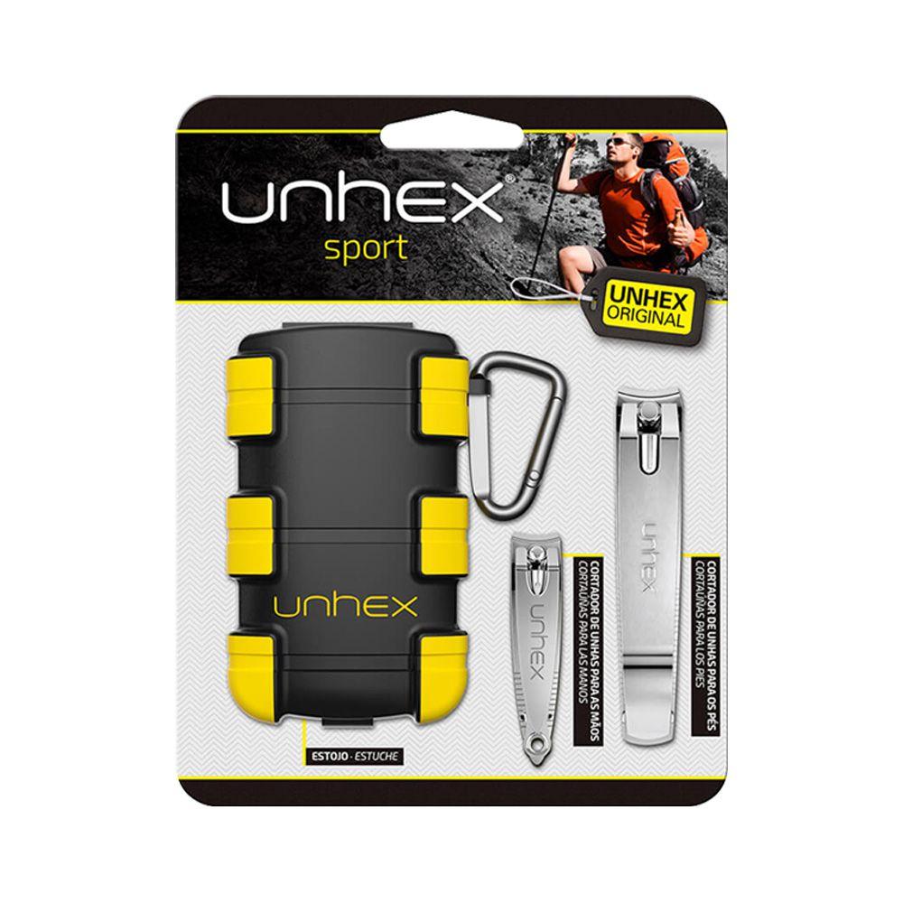 Kit Unhex Cortadores de Unha + Estojo Amarelo Merheje